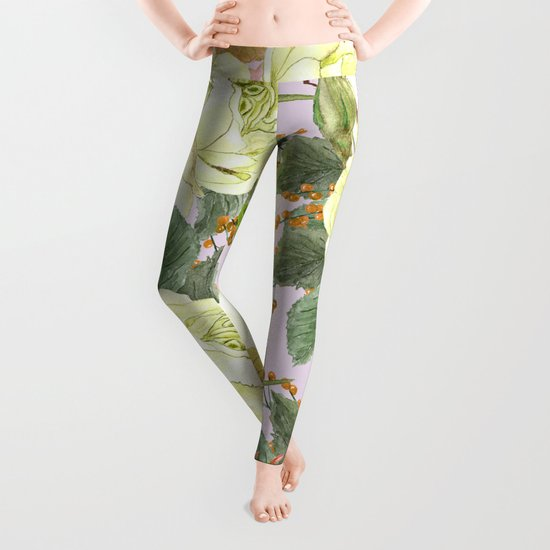 Watercolor Roses #4 Leggings