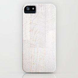 Vintage White Wood iPhone Case