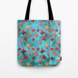 Dead Leaves over Cyan Tote Bag