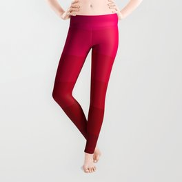 Pink and Red Stripes Leggings