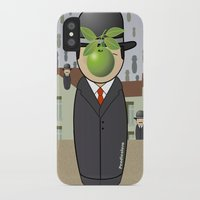 magritte iPhone & iPod Cases featuring Kokeshi Magritte by Pendientera