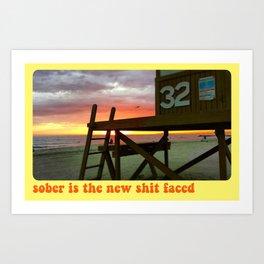 SOBER SUNSET Art Print