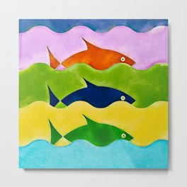 Colorful fishes Metal Print