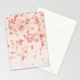 My favourite colour: PINK OCTOBER - Indian Summer - Rose Gold autumnal leaves Stationery Cards