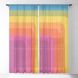 Retro Camera Sheer Curtain