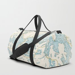 Vintage Muskoka Lakes Map Duffle Bag