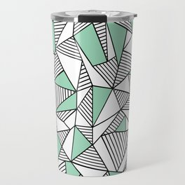 Abstraction Lines with Mint Blocks Travel Mug