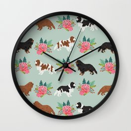 Cavalier King Charles Spaniel must have gift accessories for dog breed owner king charles dog Wall Clock