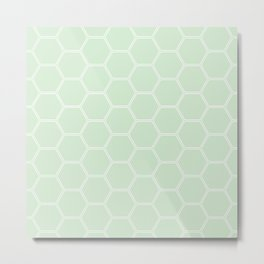 Honeycomb Light Green #273 Metal Print