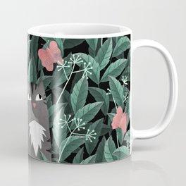 Butterfly Garden (Tabby Cat Version) Coffee Mug