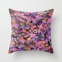 Automne in pink and orange Throw Pillow