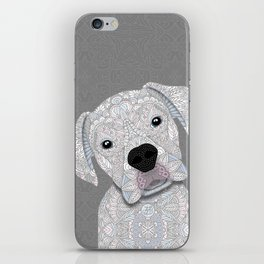 Cute White Boxer iPhone Skin