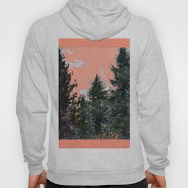 CORAL PINK WESTERN PINE TREES MOUNTAIN LANDSCAPE Hoody