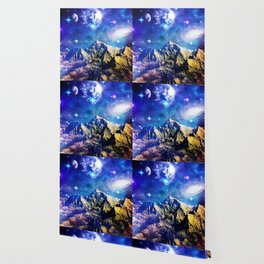 Mountain Stars Wallpaper