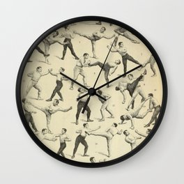 Antique Boxing Wall Clock