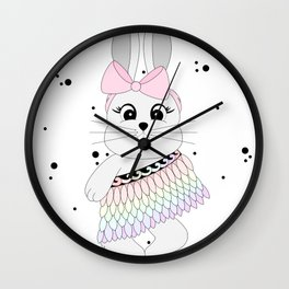 Miss Rapeti (rainbow) Wall Clock