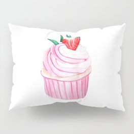 Strawberry Cupcake Pillow Sham