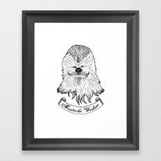Mustache Wookiee Framed Art Print