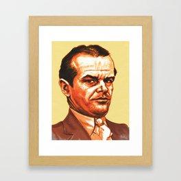 """J.J Gittes"" by the ""great"" Jack Nicholson Framed Art Print"