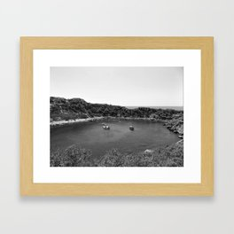 Rhodes Greece Anthony Quinn Bay black white Framed Art Print