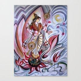 Musical Goddess Saraswati - Healing Art Canvas Print