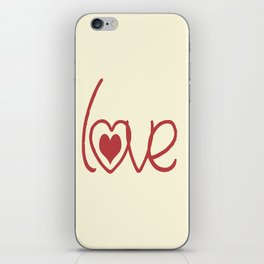 Red Love  iPhone Skin