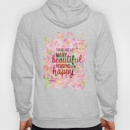 Pink Tropical Flower Typography Illustration Hoody
