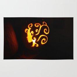 Pretty Lady Carved Pumpkin Rug