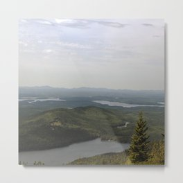 Early Morning Fog Lifting in Acadia National Park Metal Print