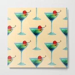 Watercolor fresh cocktail art Metal Print