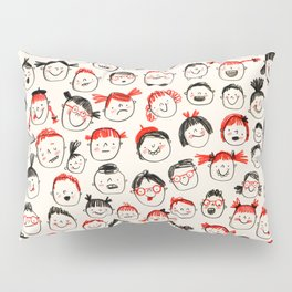 Silly Faces Pillow Sham
