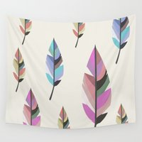 feathers Wall Tapestries featuring Feathers by 83 Oranges™