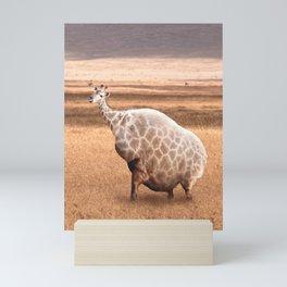 Cute Funny Fat Giraffe Mini Art Print