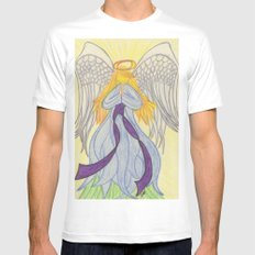 Radiant Angel MEDIUM Mens Fitted Tee White