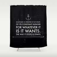 edgar allan poe Shower Curtains featuring EDGAR ALLAN POE by REASONandRHYME