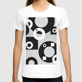 Rings ad rectangles black & white T-shirt