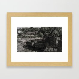 Coal Wagons Framed Art Print