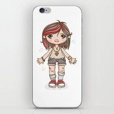 Funky girl iPhone & iPod Skin
