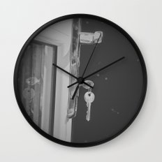 Don't Forget to Lock the Door  Wall Clock