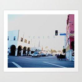 Pacific Avenue, Venice Art Print