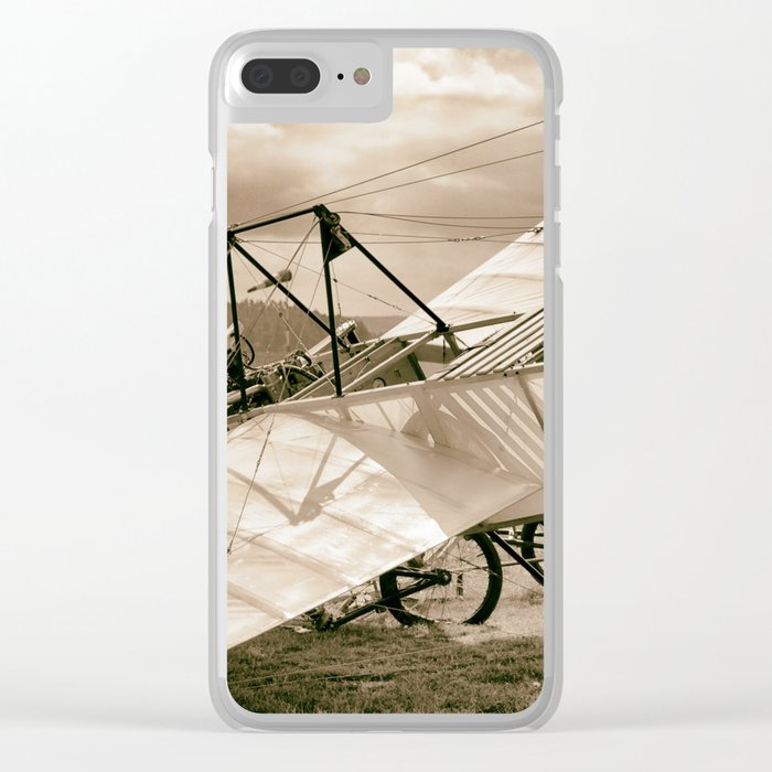Old Airplane Clear iPhone Case