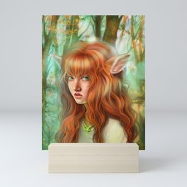 In The Woods - Bambie Mini Art Print