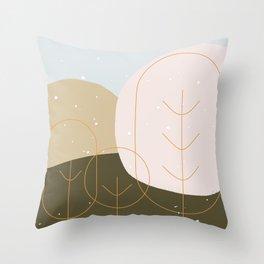 Tender winter Throw Pillow