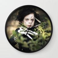 edward scissorhands Wall Clocks featuring Edward Scissorhands by Malice of Alice