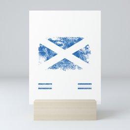 No Fear Scottish Is Here Scotland Flag Mini Art Print