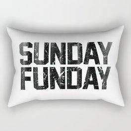 Sunday Funday Dirty Vintage Varsity Typography Print Rectangular Pillow