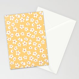 Ditsy Floral - Yellow Phlox Stationery Cards