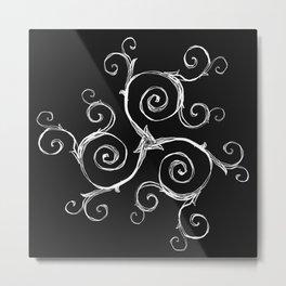Magic Mandala Twisted Triskele Metal Print