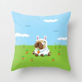 Pugs Bunny Throw Pillow