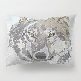 Wolf Head Illustration Pillow Sham
